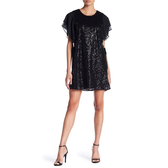 Laundry By Shelli Segal Dresses & Skirts - Laundry Shelli Segal Chiffon Sleeve Sequin Dress